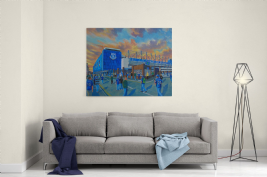 goodison  going to the match canvas a3 size